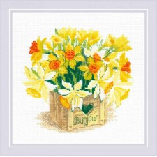Cross stitch kit Bonjour