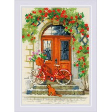 Cross stitch kit Italian Door