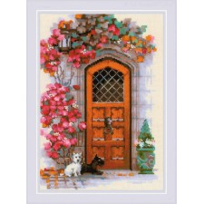 Cross stitch kit Scottish Door