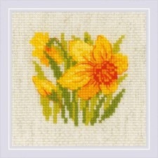 Cross stitch kit Yellow Narcissus