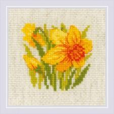 Cross stitch kit Yellow Narcissus - RIOLIS