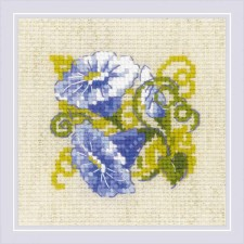 Cross stitch kit Purple Bindweed