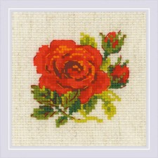 Cross stitch kit Red Rose