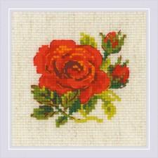 Cross stitch kit Red Rose - RIOLIS