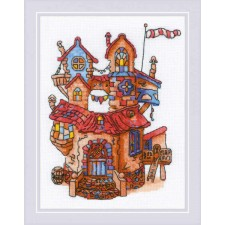 Cross stitch kit Fairytale House