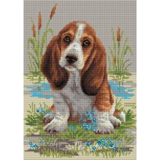 Diamond Mosaic Basset Hound Puppy