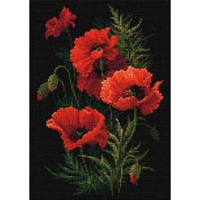 Diamond Mosaic Klaprozen - Poppies