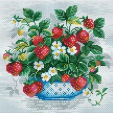 Diamond Mosaic Schaal Aardbeien - Basket of Strawberries
