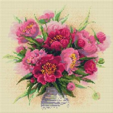 Diamond Mosaic Bloemenvaas- Peonies in a Vase