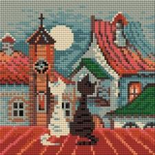 Diamond Mosaic Lentekatten in de stad - City & Cats Spring
