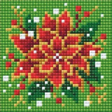 Diamond Mosaic Poinsettia