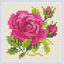 Diamond Mosaic Pink Rose - RIOLIS