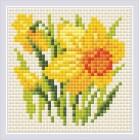 Diamond Mosaic Yellow Narcissus