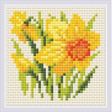 Diamond Mosaic Yellow Narcissus - RIOLIS