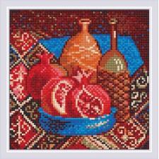 Diamond Mosaic Pomegranates