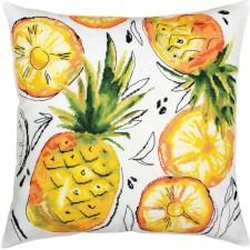 Borduurkussen Gouden Ananas - Golden pineapple