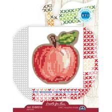 Borduurpakket Houten geperforeerde vorm - Appel