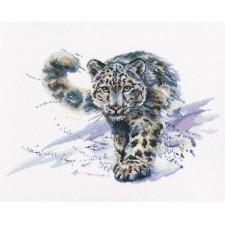 Borduurpakket Snow Leopard