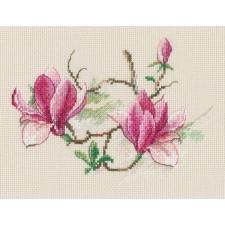 Borduurpakket Magnolia's - Magnolia Flowers