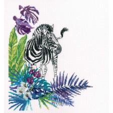 Borduurpakket Zebra