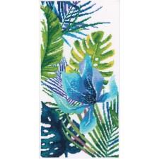 Borduurpakket Blauwe Bloem -  Blue flower