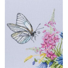 Cross stitch kit Cabbage Butterfly