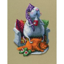 Cross stitch kit Who Runs the House? - RTO