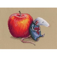Cross stitch kit Mouse in love