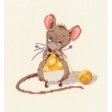 Cross stitch kit Cheese Knitting