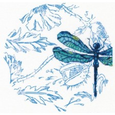 Borduurpakket Dans van de Libellen - Dance of dragonflies