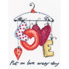 Borduurpakket Alle dagen Liefde - Put on love every day