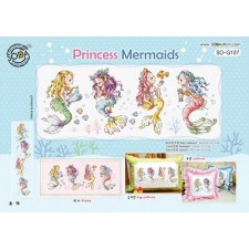 Borduurpatroon Princess Mermaids