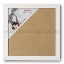 Wissellijst hout 30 x 30 cm, wit