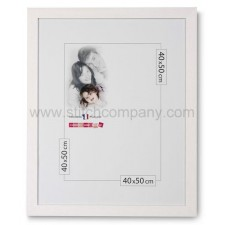 Wissellijst hout 40 x 50 cm, wit