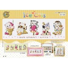 Borduurpakket Ice Cats