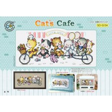 Borduurpakket Kattencafé - Cat's Cafe
