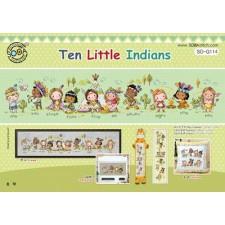 Borduurpakket Tien kleine indiaantjes - Ten Little Indians