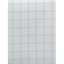 Stoffen Easy Count Aida 14 ct, White 50x55 cm