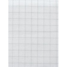Stoffen Easy Count Aida 18 ct, White 50x55 cm