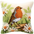 Cross stitch cushion kit Robin