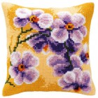 Cross stitch cushion kit Orchid
