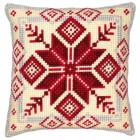 Cross stitch cushion kit Nordic snowflake