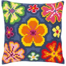 Cross stitch cushion kit Flower Power