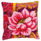 Cross stitch cushion kit Pink bloom