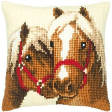 Cross stitch cushion kit Horse friendship