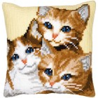 Cross stitch cushion kit Kittens
