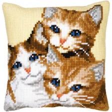 Cross stitch cushion kit Kittens