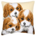 Cross stitch cushion kit 3 Puppies