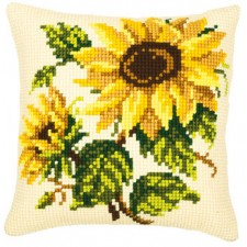 Cross stitch cushion kit Sunflowers