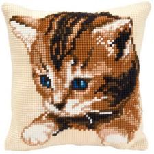 Cross stitch cushion kit Cat